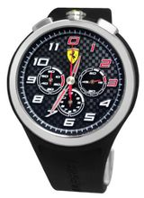 Ferrari 0830100 Scuderia Ready Set Go Chrono Black Silver Red  NEW