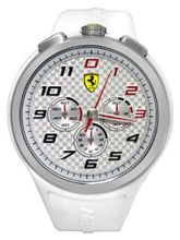 Ferrari 0830102 Scuderia Ready Set Go Chrono White Red Silver  NEW