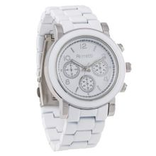 Ferretti FT10301 - Fashion - Oversized White & Round with Ceramic Look