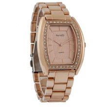Ferretti FT11401 - Dress - Rose-tone Bracelet with Cubic Zirconia Tonneau Dial
