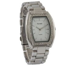 Ferretti FT11402 - Dress - Silver Bracelet with Cubic Zirconia Tonneau Dial