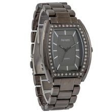 Ferretti FT11403 - Dress - Gunmetal Bracelet with Cubic Zirconia Tonneau Dial
