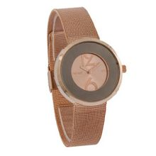 Ferretti FT11503 - Fashion - Stylish Mesh Rose-Tone Stainless Steel Band