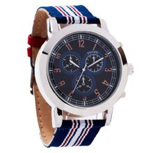 Ferretti FT11903 - Casual - Large Striped Red and Blue Band - Chronograph Style