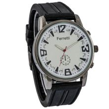 Ferretti FT12102 - Casual - Black Rubber Band & White Dial