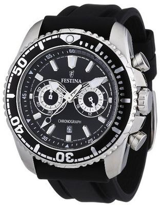 Festina F16574/4 Black Polyurethane Quartz with Black Dial