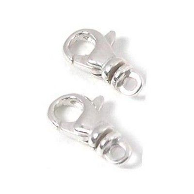 2 Sterling Silver Lobster Clasps 8 x 13.5mm