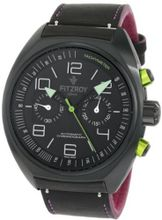 Fitzroy F-C-K2L1 Black Chronograph Black Steel Automatic Strap