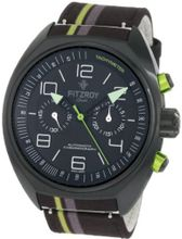 Fitzroy F-C-S2F1 Black Chronograph Steel Automatic Fabric Strap