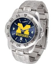 Michigan Wolverines Sport Steel Band Ano-Chrome