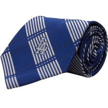 MLB L.A. Dodgers Royal Blue-Silver Poly Plaid Woven Tie