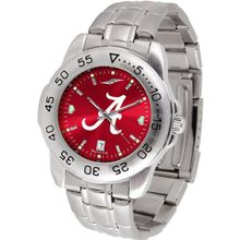 NCAA Alabama Crimson Tide Anochrome Sport with Stainless Steel Band