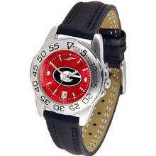 NCAA Georgia Bulldogs Ladies Anochrome Sport with Leather Band