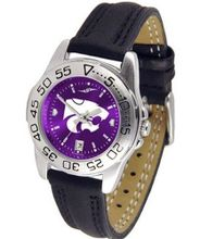 NCAA Kansas State Wildcats Ladies Sport Leather AnoChrome