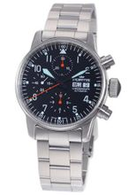 Fortis 597.11.11M Flieger Automatic Chronograph Black Dial