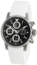 Fortis 597.20.71 SI.02 Flieger Black Automatic Chronograph Rubber