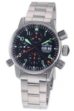 Fortis 599.10.11 M Flieger Alarm Chronograph Black Dial