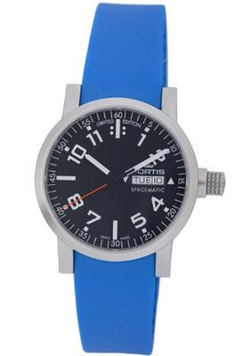 Fortis 623.22.41 SI.17 Spacematic Automatic Day and Date Silicone Strap