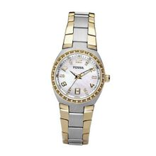 Fossil AM4183 Two-Tone Quartz Mother-of-Pearl Dial