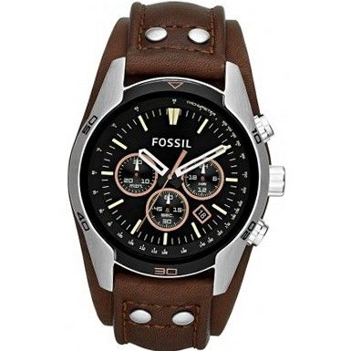 Fossil CH2891 Black and Brown Coachman Chronograph