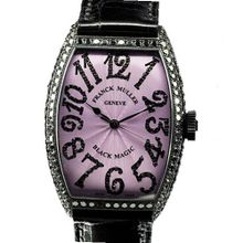 Franck Muller Black Magic WFM5850SCDWG mm Diamonds Automatic Stainless Steel Case Black Leather