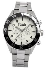 Fcuk Quartz with White Dial Analogue Display and Silver Stainless Steel Bracelet FC1115S