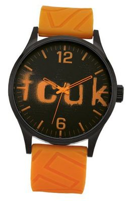 French Connection FC1096OO Black and Orange Silicone