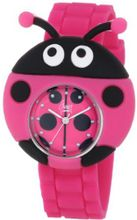 Frenzy Kids' FR2003 Ladybug Critter Face With Magenta Rubber Band