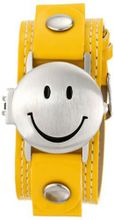Frenzy Kids' FR282 Smiley Face Analog Yellow Strap