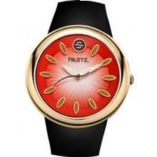 Fruitz F36G-CH-B Classic Ladies - Faded Red Dial Stainless Steel Case Quartz Movement