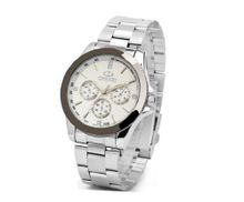 Casual series es Quartz Luminous Mechanical Stainless steel Bracelet Wrist White