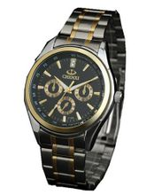 Golden Lines Multifunction es Quartz Full-automatic Stainless steel Business Man Black