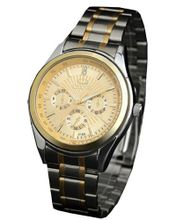 Golden Lines Multifunction es Quartz Full-automatic Stainless steel Business Wrist