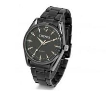 Simple design For es Quartz Mechanical Stainless steel Bracelet Luminous Wrist All Black