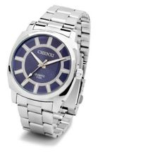 Youth Simple design es Luminous Quartz Mechanical Stainless steel Bracelet Wrist Blue