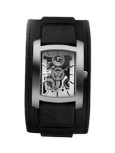 G by GUESS Black Leather Gear Cuff
