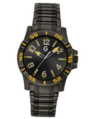 G by GUESS Black With Yellow Accents
