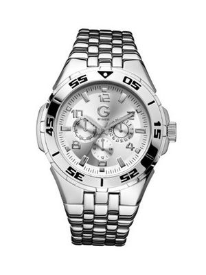 G by GUESS Round Multi-Function Silver-Tone