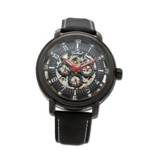 Gallucci Automatic 3 Eyes Skeleton IP Black Coating Black Dial #WT22970SK/SS-L-KK