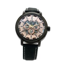 Gallucci Automatic 3 Eyes Skeleton IP Black Coating Rose Gold Dial #WT22970SK/SS-L-KRG