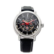 Gallucci Automatic 3 Eyes Skeleton Steel Case Black Dial #WT22970SK/SS-L-PNP-K