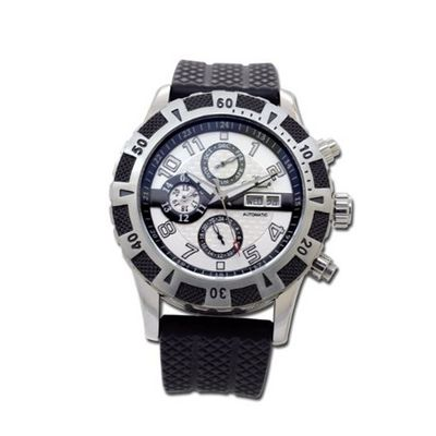 Gallucci Automatic White 3 Eyes Dial 2 Tone Steel/IP Black Case #WT22809AU/SS-P-WH