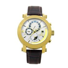 Gallucci Automatic White Dial IP Gold Coating Case #WT22448AU/SSL-G
