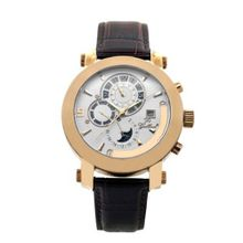 Gallucci Automatic White Dial IP Rose Gold Coating Case #WT22448AU/SSL-RG
