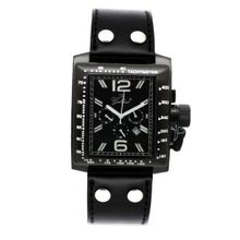 Gallucci Chronograph Quartz IP Black Case Black Dial Crown #WT22484CH/SSL-KK