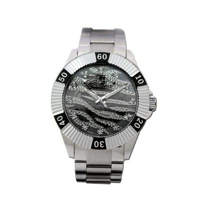 Gallucci Unisex Fashion Skeleton Automatic Aluminum Ring Black Color #WT23178SK/SS-B-BK