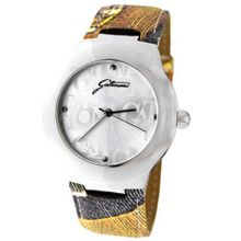 Gattinoni 102679SA13-13A Maia Stainless Steel Logo Dial Textured Leather