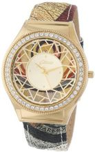 Gattinoni 202848GA13-13A Mosaic Gold Ion-Plated Coated Stainless Steel Swarovski Crystal