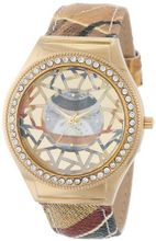 Gattinoni 202848GA13-44B Mosaic Gold Ion-Plated Coated Stainless Steel Swarovski Crystal