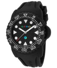 Black Dial Black Rubber